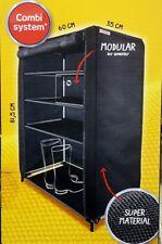 LEIFHEIT Schuhschrank Shoe Cabinet Combi-System Stoff schwarz 35 x 60 x 81.5 cm