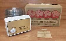 Vintage Montgomery Ward Refrigerator Automatic Ice Cream Machine With Box *Read*