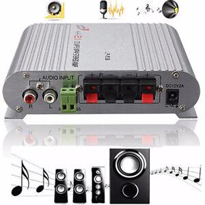 Stereo Amplifier HiFi  MP3 Radio Car Home Audio  Bass Speaker Booster uk