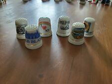 Lot of 6 Florida USA Thimbles Captiva Island Punta Gorda