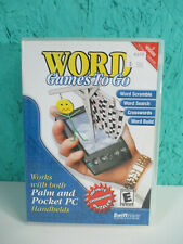 Word Games to Go - Works with Palm and Pocket Pc Handhelds Disc Software