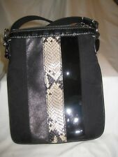 Coach Crossbody Bag with Leather, Patent Leather & Python Snakeskin Strip NWOT