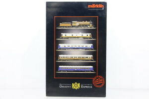 Z Märklin mini-club 8108 Zugset Orient Express mit Dampflok analog +OVP/I33