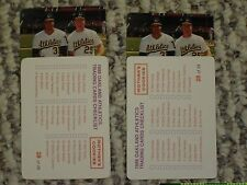 UNRELEASED MOTHERS COOKIES 1988 OAKLAND A'S CANSECO MCGWIRE CARD ERROR PULLED
