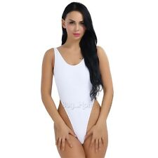 Yoga Swimsuit Monokini One-piece Thong Leotard High Cut Bikini Backless Bodysuit