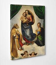 🌹Quadro Raffaello Madonna Sistina Stampa Fine Art su Tela Vernice Pennellate 🎨