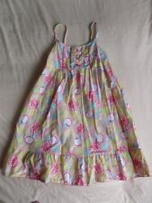 Girl 2 Girl Multi Colour Sleeveless 100% Cotton Dress Size 5-6 Years