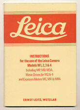 Leica Instructions Models M1,2,3 & 4 ristampa anastatica D538 bis