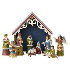 Jim Shore Heartwood Creek Victorian 10 PC Mini Nativity One Holy Night 4058756