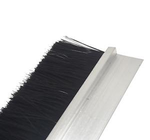 2x Door Aluminum Brush Draught Excluder Strip Door Bottom Sweep Dust Seal/2000mm