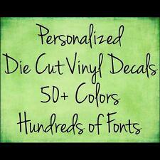 Make Your Own Custom Die Cut Vinyl Decal Sticker Car Window Wall Laptop font