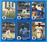 (6) 1988 Star Bo Jackson Kansas City Bomber Baseball Card Lot #7-12