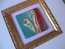 FIONA STUDIO Gold luster Porcelain Pendant art deco Klimt Miniature art painting