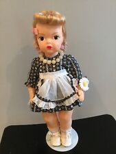 Doll Terri Lee original wig and Days of Week Dress  1950s
