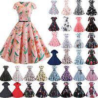 Vintage Polka Dot 50s 60s ROCKABILLY Swing Pinup Housewife Retro Dress Oversized