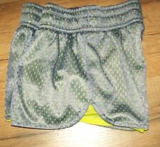 BCG Girls Cute Active Shorts, size 7, Gray & Lime
