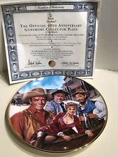 Franklin Mint Royal Doulton The Official 40th Anniversary Gunsmoke Plate