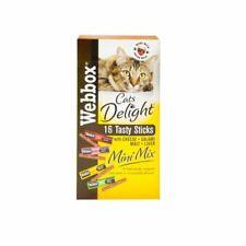 Webbox Cats Delight 16 Tasty Sticks Mix Cheese Salami Malt Liver Treats Snacks