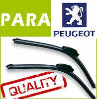 2 Escobillas Limpiaparabrisas Flexibles para Peugeot 407 2004+ sw