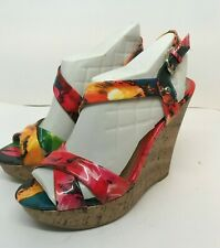 """By Guess vibrant patent leather 5"""" wedge heels ladies size 8 M"""