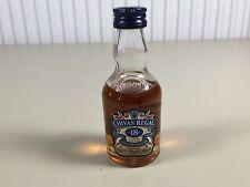 Mignonnette mini bottle non ouverte , whiskey whisky chivas 18 ans d'ages