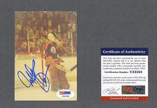 Michel Plasse signed Kansas City Scouts hockey snap-shot photo Psa-Dna