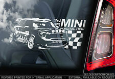 Mini - Car Window Sticker - WRC Rally Team Sign Art - Cooper One S Gift - TYP1
