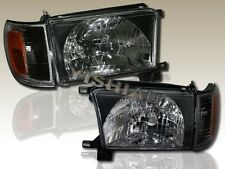 96-98 TOYOTA 4RUNNER JDM BLACK HEADLIGHTS CORNER LIGHTS