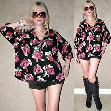 Vintage 90s SHEER ROSES deep V BOHO HIPPIE GYPSY Drape Top dress shirt blouse