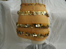 Egyptian Yellow Belly Dancing Belt With Plastic Gold Coins #7