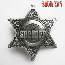 METAL SHERIFF STAR BUCKLE - Gürtelschnalle - Texas Western Country Marshall US