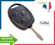Coque Télécommande Plip 3 Boutons Ford C-Max, Fiesta, Focus, Ka + cle vierge