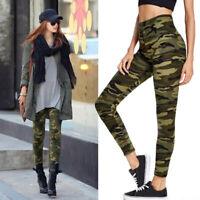 Women High Waist Pants Camouflage Sportswear Stretchy Fitness Legging Seamless