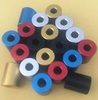 Anodised Aluminum Stand Off Spacers Collar Bonnet Raisers Bushes with M8 Hole