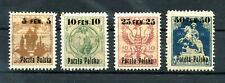 POLAND 1918 - Mi #2-5 - MH OVERPRINT