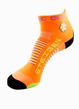 Steigen Goldfish Orange Quarter Length Performance Running and Cycling Socks