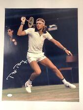 Bjorn Borg Signed Photo 16x20 Autograph Tennis Wimbledon Champ HOF JSA COA