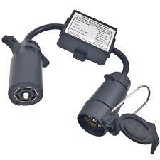 USA to EU Trailer Light Converter US 7-Way Blade Socket to EU 7-Pin Round Plug