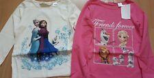 H&M Eiskönigin Frozen Set 2 Shirt Tshirt Pullover  Gr. 134/140 Neu