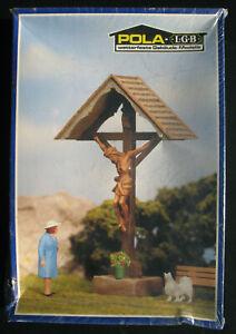 POLA LGB 991 - Feldkreuz Kreuz Christus-Figur Crucifix Spur G Eisenbahn Bausatz