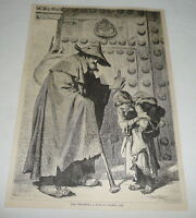 1879 magazine engraving ~ THE PORDIOSERO ~ A Type Of Toledo Life ~ Spain