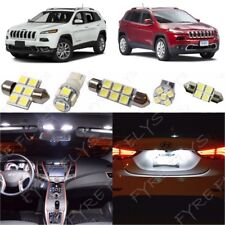 15x White LED Interior Lights Package Kit for 2014-2018 Jeep Cherokee +Tool JC1W