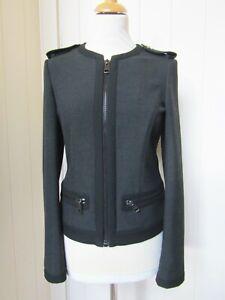 BURBERRY dark grey zipped jacket - UK6 (fit UK8/10)