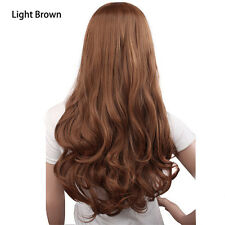 Women Curly Long Straight Wavy Full Wig Black Brown Hair Cosplay Party Costume