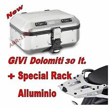 GIVI BAULE TREKKER DOLOMITI DLM30 30 lt+ PIASTRA SRA5108 BMW R 1200 GS 2013-2016