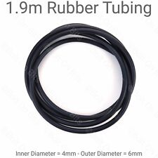 190cm/1.9m of 4mm EPDM BLACK windscreen wiper washer jet tube/pipe/hose/rubber