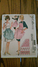 McCalls Pattern 6664 Junior & Misses Apron Smocked Gingham Vtg 1962 FF