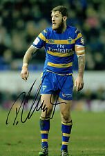 Daryl CLARK Warrington Wolves Rugby League Signed Autograph 12x8 Photo AFTAL COA