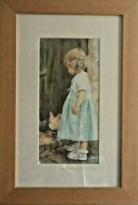 A Framed & Mounted Watercolour Print Any Eggs For Breakfast? By Thorne J Haywood