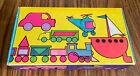 Vintage Target Cardboard Pencil Box Sterling Lebanon Neon Cars Trucks Elementary